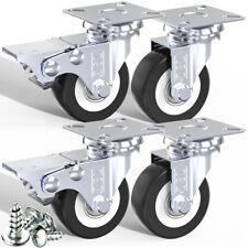 More details for dsl heavy duty 50mm 240kg pu swivel castor wheel furniture trolley caster rubber