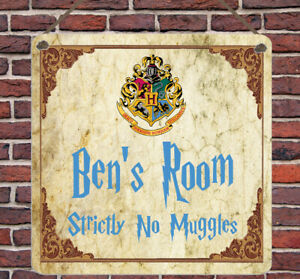 Personalised Harry Potter Metal Plaque Bedroom Wall Sign Gift Present Home