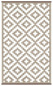 Green Decore Outdoor Rug Nirvana Taupe / White