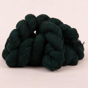 250g*PURE BRITISH SHETLAND WOOL*4 Ply Green Tweed yarn.knitting.100% bottle teal