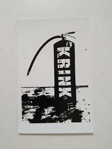 KRINK NY INK GRAFFITI EXTINGUISHER STICKER - 11x7cm - STREET ART -Pegatina- Slap