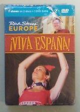 rick steves steves' europe  VIVA ESPANA !  BLU RAY /  DVD NEW large cover scuffs
