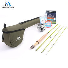 Fly Fishing Rod & Reel Combos Fly Rod 3WT 7'6'' 4Sec 3/4WT Fly Line Backing Kit