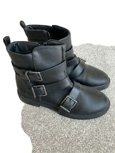 Girls Lipsy Black Boots, Worn Once, Size 3