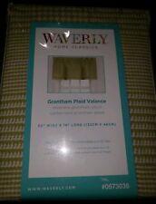 "Waverly Home Classics Celery GreenGrantham Plaid Valance Rod Pocket 52""W x 18"" L"
