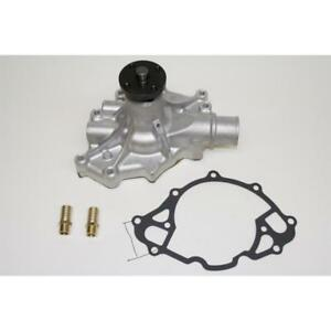 PRW Water Pump 1430201; Satin Aluminum Mechanical for Ford 5.0L V8