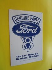 tin metal dealer garage repair shop man cave advertising decor ford v8