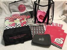 PERFECTLY POSH LOT Consultant Gift Bags Boxes Sample Roll Out Bag H2OBottle RARE