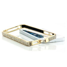 Strass Aluminium Bumper für Apple iPhone 5S 5 Schutz Hülle Case Cover Etui Gold