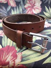 Men's brown 30-44 handmade leather belt