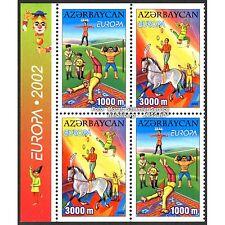 Aserbaidschan Azerbaijan Europa CEPT 2002, Zirkus, teilgezähnt ** (postfr.)