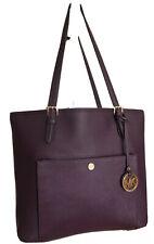 MICHAEL KORS JET SET Purple Saffiano Leather Front Pocket Tote Shopper Bag GREAT