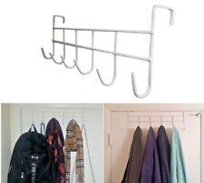 """Over The Door Hanger 17"""" Rack 6 Hooks Home Office Bathroom Hanger Coat Towel New"""