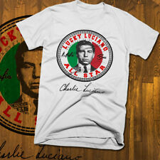 Lucky Luciano T-shirt, all sizes white tee, mob, Mafia, gangster