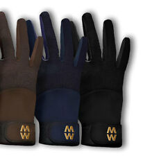 Macwet Mesh Equestrian Gloves Mesh Back-Longer Cuff Navy
