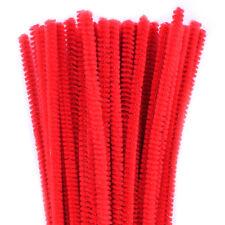Lot de 50 chenilles 6mm * 30cm rouge