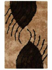 Hand-tufted Plush Brown Gold Modern 5x8 Shaggy Oriental Area Rug 6x9/ 8x10/ 9x12
