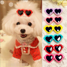 3pcs Pet Dog Bows Hair Clips Pets Head Lovely Heart Sunglasses Hairpin Headwear