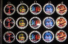 15 Five Nights at Freddy's Silver Flat Bottle Cap Necklaces Special Set 1