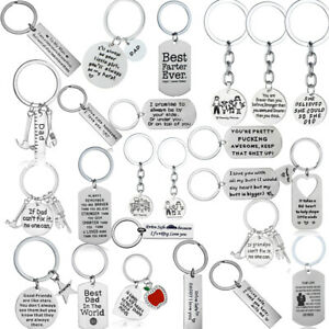 Metal Keychain Family Love Key Chain Best Friend Keyring Friendship Key Rings
