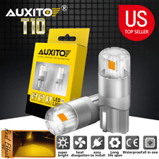 Auxito T10 Led 168 Front Side Markerlicense Plate Tag Light Bulb Amber Yellow Fits Rsx