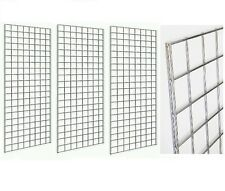 2' x 6' Deluxe Chrome Wire Gridwall Retail Display Panels Case 3 FREE SHIPPING