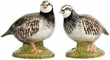 More details for partridge salt and pepper pots shakers by quail pottery shooting gift clearance