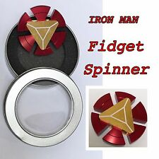 Iron Man Fidget Hand Spinner Toy EDC Focus ADHD New Fashion red/gold