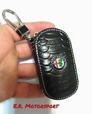 Portachiavi in cuoio contenitivo Alfa Romeo Nero 147 156 Giulia Mito Spider 159