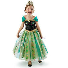 NEW Girls Dress Princess Queen Anna Party Birthday Costume size 2-7 Years