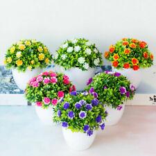 Plantas flores al aire libre falso falso Flores Artificiales Decoración Hogar Jardín Con Olla