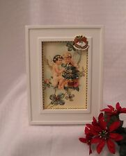 """Framed Jewelry Postcard - """"Christmas Angels"""" -Holiday Arrangement"""