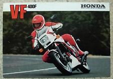 HONDA VF 400F MOTORCYCLE Sales Brochure 1983