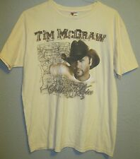 Tim McGraw Authentic 2010 Natural Color Southern Voice Photo Tour Shirt Xl Nm