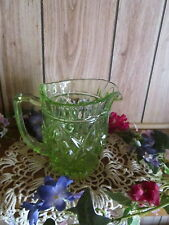 Large Green Uranium Glass Pitcher Jug