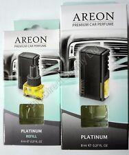 Areon Quality Car Perfume Luxury Air Freshener Long Lasting Platinum 8 ml+Refill