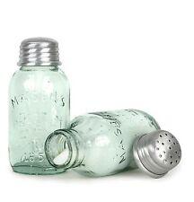Miniature MASON Jar Salt & Pepper Shakers Set Primitive Vintage Shabby Country