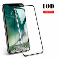 10D Tempered Glass Full Cover Edge Screen Protector Film For iPhone X XS Max XR