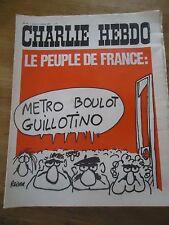 CHARLIE HEBDO N°47 PEUPLE FRANCE GUILLOTINE REISER 11 oct 19711