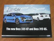 2010 FPV 335GT & 315GS Allan Moffat signed original single page brochure