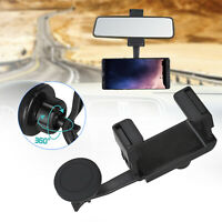 360° Universal Car Rearview Mirror Mount Stand Holder Cradle For Cell Phone GPS