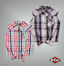 Girls' Checked Cotton Collared T-Shirts, Top & Shirts (2-16 Years)