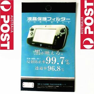New Clear LCD Screen Protector Film for Nintendo Wii U Console