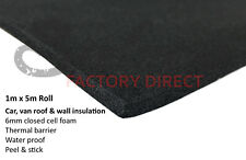 Foam insulation 5sqm sticky back self adhesive peel and stick 5m x 1m roll