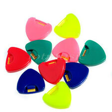 100 Pcs Guitar Picks Holder Pick Case Box Color Comes in Random