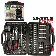 "94PC 1/2"" & 1/4"" SOCKET SET & SCREWDRIVER BIT TORX RATCHET DRIVER CASE TOOL KIT"