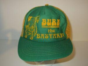 Vintage 80s Burn The Bastard Electric Chair Ted Bundy Trucker Snapback Hat USA