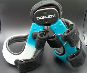 DONJOY Defiance ACL PCL MCL LCL Hinged Brace Right Knee White &  Blue; Med/Large