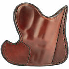 Front Pocket Holster Ambidex D Hume 3-2 For S&W Taurus 85 Premium Brown Leather