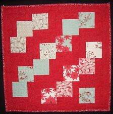 Falling Charm Squares with Winter Lane Charm Squares by Moda Christmas Quilt